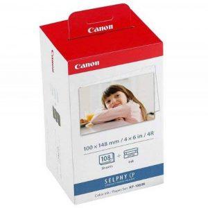 Canon Papier Photo Pour Canon SELPHY CP 400, 108feuilles Photo, Color Ink Paper Lot, 100x 148mm, format A6, CP400 de la marque Canon image 0 produit