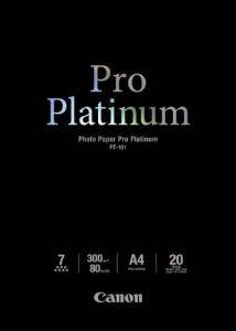 CANON Papier Photo Pro Platinum PT-101 - A4 - 300 g/m2 - 20 feuilles de la marque Canon image 0 produit