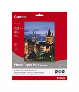 Canon Photo Paper Plus Semi-gloss SG201 papier photo 20x25cm 20 feuilles de la marque Canon image 0 produit
