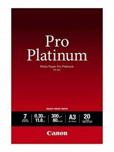 Canon Photo Paper Pro Platinum PT101 papier photo A3 20 feuilles de la marque Canon image 0 produit