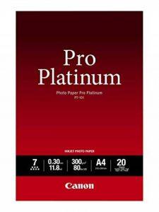 Canon Photo Papier Photo Platinum PT-101 Papier Photo A4 210x297mm 20 feuilles de la marque Canon image 0 produit