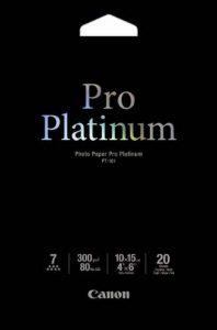 Canon PT-101Pro Platinum Lot de 20 feuilles de papier photo 10x 15cm de la marque Canon image 0 produit
