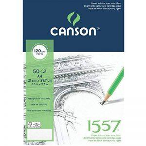 Canson 1557 204127408 Papier à dessin Grain Léger Blanc Pur de la marque Canson image 0 produit