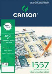 Canson 1557 204127415 Papier à dessin Grain Léger Blanc Pur de la marque Canson image 0 produit