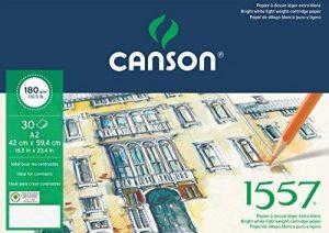 Canson 1557 204127416 Papier à dessin Grain Léger Blanc Pur de la marque Canson image 0 produit