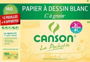 Canson 200002763 Pochette à grain A4 Blanc de la marque Canson image 0 produit