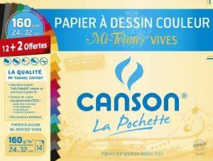 Canson 200002778 Pochette couleur 24 x 32 cm Multicolore de la marque Canson image 0 produit