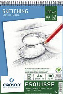 Canson 200005777 Album Esquisse 70 feuilles Papier à dessin 100g 21 x 29,7 cm - A4 Blanc de la marque Canson image 0 produit