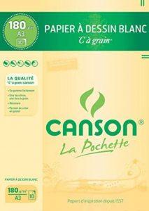 Canson - 27106 - Pochette de 10 feuilles de papier dessin - 180 g - A3 de la marque Canson image 0 produit
