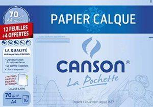 Canson 400022290 Pochette papier calque 12 feuilles + 4 gratuites 70g A4 21 x 29,7 cm et Pastilles adhésives de la marque Canson image 0 produit