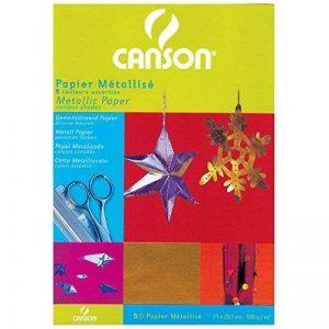 Canson Aluminium Papier de bricolage 5 feuilles A4 21 x 29,7 cm Assorties de la marque Canson image 0 produit