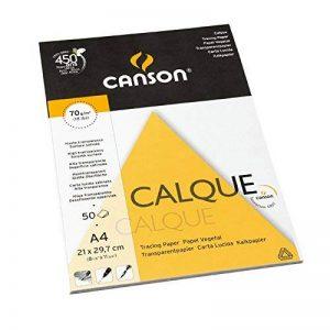 Canson Arts graphiques 200757243 Papier calque A4 21 x 29,7 cm 50 feuilles Transparent de la marque Canson image 0 produit