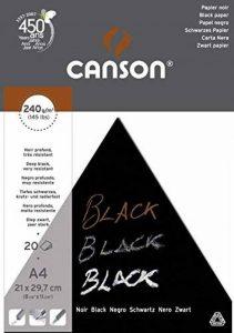Canson Arts graphiques Black Papier à dessin A4 21 x 29,7 cm 20 feuilles Noir profond de la marque Canson image 0 produit