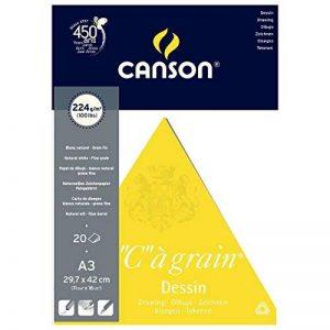 Canson Arts graphiques C à Grain 200027185 Papier à dessin A3 29,7 x 42 cm 20 feuilles Blanc naturel de la marque Canson image 0 produit