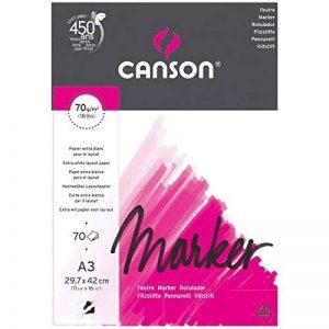 Canson Arts graphiques Marker layout Papier à dessin A3 29,7 x 42 cm 70 feuilles Extra Blanc de la marque Canson image 0 produit