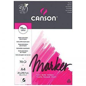 Canson Arts graphiques Marker layout Papier à dessin A4 21 x 29,7 cm 70 feuilles Extra Blanc de la marque Canson image 0 produit