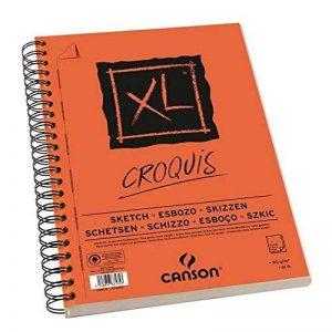 CANSON Bloc 60 feuilles papier dessin CROQUIS XL spirale grand côté 90g A5 de la marque Canson image 0 produit