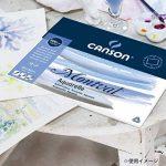Canson Bloc collé 4 côtés Papier aquarelle 24 x 32 cm Blanc Naturel de la marque Canson image 4 produit