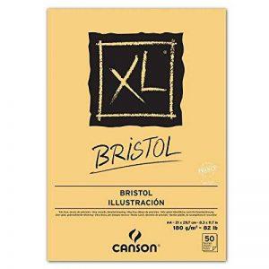 """CANSON Bloc croquis Collé petit côté """"XL Bristol"""" A4 180g Très Lisse Blanc de la marque Canson image 0 produit"""
