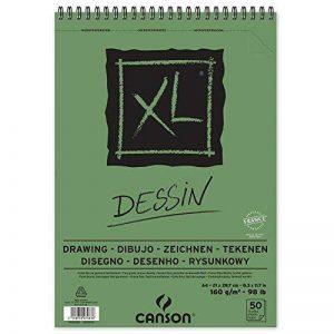 Canson Bloc dessin XL - Grain léger - 160g/m², 50feuilles par bloc - Spirale sur le côté court - Blanc 210 x 309 mm weiß de la marque Canson image 0 produit