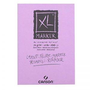 CANSON–Bloc XL Marqueurs, 70g/m², 100Feuilles Blanc 210 x 297 mm blanc éclatant de la marque Canson image 0 produit