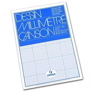 Canson Dessin Millimétré Papier à dessin A4 21 x 29,7 cm Bleu de la marque Canson image 0 produit
