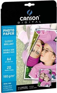 Canson Digital Performance Double Face Papier Photo Brillant 180 g 20 Feuilles A4 Blanc de la marque Canson image 0 produit