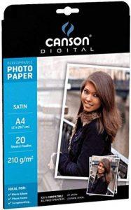 Canson Digital Performance Papier Photo Satiné 210 g A4 Blanc - 20 Feuilles de la marque Canson image 0 produit
