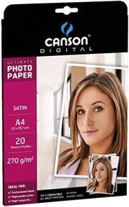 Canson Digital UltiMate Papier Photo Satin 270 g A4 Blanc - 20 Feuilles de la marque Canson image 0 produit