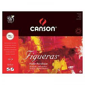 Canson Figueras Papier à dessin 50 x 65 cm 10 feuilles Blanc naturel de la marque Canson image 0 produit
