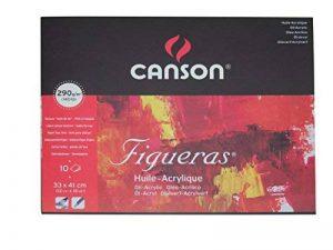 Canson Figueras Papier à dessin 33 x 41 cm 10 feuilles Blanc naturel de la marque Canson image 0 produit