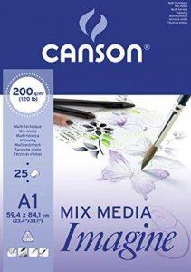 Canson Imagine Papier à dessin A1 59,4 x 84,1 cm 25 feuilles Blanc pur de la marque Canson image 0 produit