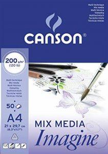 Canson Imagine Papier à dessin A4 21 x 29,7 cm 50 feuilles Blanc pur de la marque Canson image 0 produit