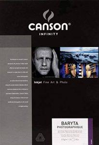 Canson InFinity Baryta Photographique Papier Photo 25 Feuilles 310 g A3 + Blanc Pur de la marque Canson image 0 produit