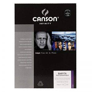 Canson InFinity Baryta Photographique Papier Photo 25 Feuilles 310 g A3 Blanc Pur de la marque Canson image 0 produit