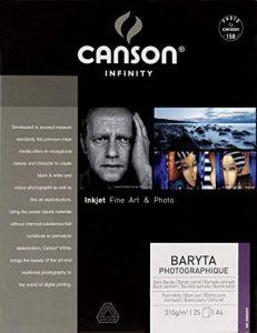 Canson InFinity Baryta Photographique Papier Photo 25 Feuilles 310 g A4 Blanc Pur de la marque Canson image 0 produit