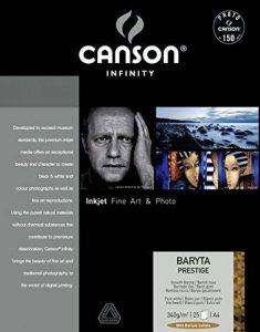 Canson Infinity Baryta Prestige Papier Photo Ramette de 25 Feuilles 340g 21 x 29,7 cm Blanc de la marque Canson image 0 produit
