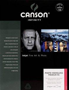 Canson InFinity Photo HighGloss Premium RC Papier Photo 25 Feuilles 315g A2 Extra Blanc de la marque Canson image 0 produit