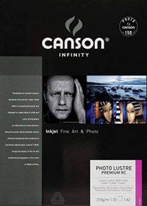 Canson InFinity Photo Lustre Premium RC Papier Photo 310 g A2 Extra Blanc - Boite de 25 Feuilles de la marque Canson image 0 produit