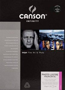 Canson InFinity Photo Lustre Premium RC Papier Photo 310 g A3 Extra Blanc - Lot de 25 Feuilles de la marque Canson image 0 produit
