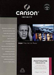 Canson InFinity PhotoSatin Premium RC Papier Photo 25 Feuilles 270g A4 Blanc de la marque Canson image 0 produit