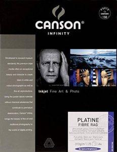 Canson InFinity Platine Fibre Rag Papier Photo 25 Feuilles 310g A4 Ultra-Blanc de la marque Canson image 0 produit