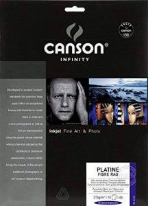 Canson InFinity Platine Fibre Rag Pochette Papier Photo 10 Feuilles 310 g A4 Blanc de la marque Canson image 0 produit