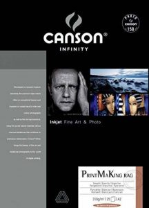 Canson Infinity Print MaKing Rag Papier Photo Ramette de 25 Feuilles 310g A2 Blanc Pur de la marque Canson image 0 produit