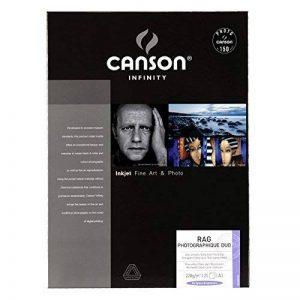 Canson InFinity Rag Photographique Duo Papier Photo 25 Feuilles 220 g A3 Blanc de la marque Canson image 0 produit