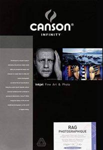 Canson InFinity Rag Photographique Papier Photo 25 Feuilles 210 g A3 + Blanc de la marque Canson image 0 produit