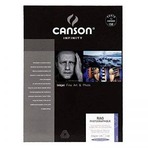 Canson InFinity Rag Photographique Papier Photo 25 Feuilles 310 g A3 Blanc de la marque Canson image 0 produit
