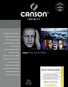 Canson Infinity Velin Museum Rag Boîte Papier Photo 25 Feuilles 250g A4 Blanc Pur de la marque Canson image 0 produit