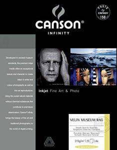Canson Infinity Velin Museum Rag Papier Photo Ramette de 25 Feuilles 315g A4 Blanc Pur de la marque Canson image 0 produit