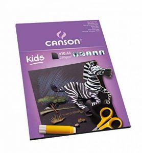 Canson Kids Papier couleur 10 feuilles A4 21 x 29,7 cm Noir de la marque Canson image 0 produit